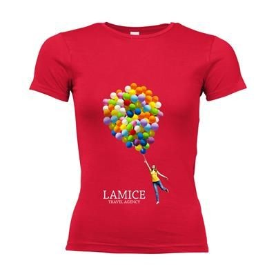 Picture of SOLS CALIFORNIA TEE SHIRT LADIES in Red