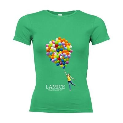 Picture of SOLS CALIFORNIA TEE SHIRT LADIES in Green