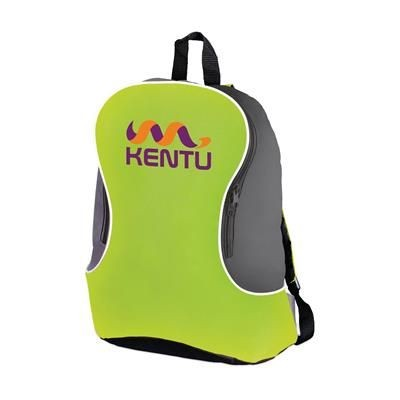 Picture of PROMO BACKPACK RUCKSACK in Bright Green