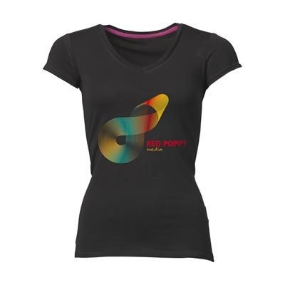 Picture of STEDMAN VISION TEE SHIRT LADIES in Black