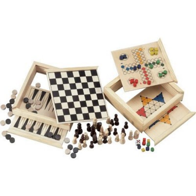 Picture of 5-IN-1 GAME SET in Wood