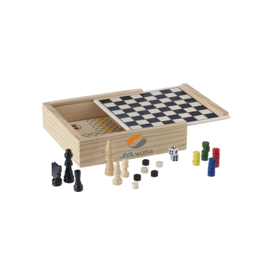 Picture of WOODGAME 5-IN-1 GAME SET in Wood