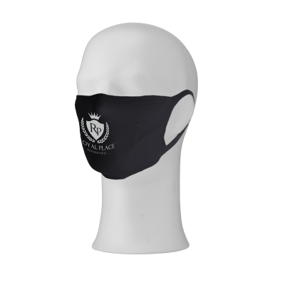 Picture of RE-USABLE MOUTH MASK with Filter Pocket Face Covering in Black