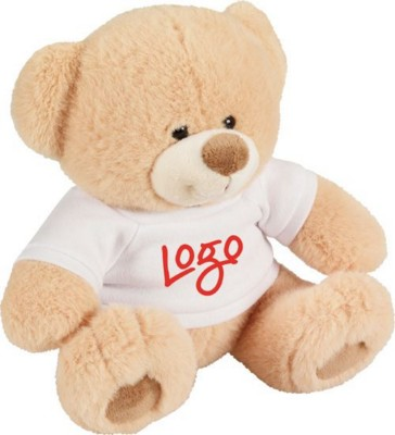 Picture of BUDDY BEAR SOFT TOY with Tee Shirt in Brown