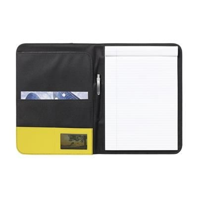 Picture of PERUGIA A4 DOCUMENT FOLDER in Black & Yellow