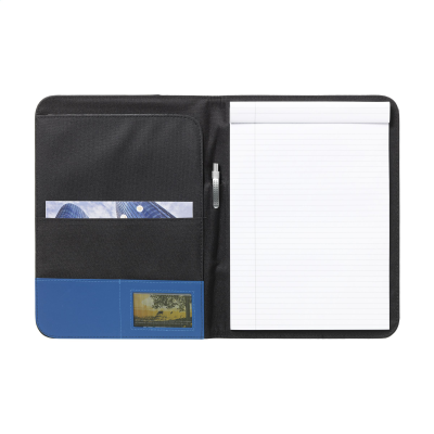 Picture of PERUGIA A4 DOCUMENT FOLDER in Black & Blue