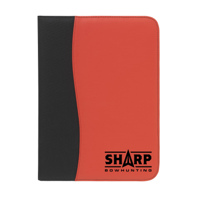 Picture of PERUGIA A4 DOCUMENT FOLDER in Black & Red