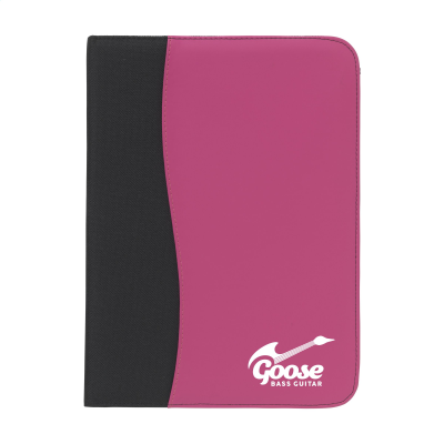Picture of PERUGIA A4 DOCUMENT FOLDER in Black & Magenta