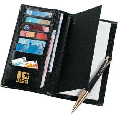 Picture of APPOINTMENT DIARY & WALLET SET in Black