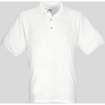 Picture of GILDAN JERSEY POLO SHIRT in White