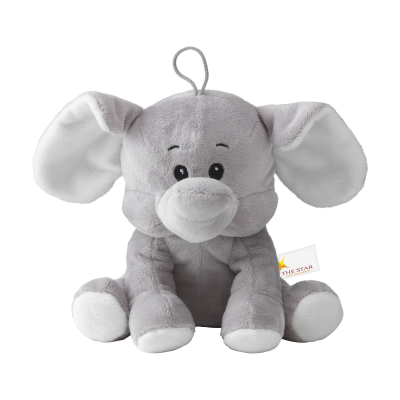 Picture of OLLY PLUSH ELEPHANT CUDDLY TOY in Grey