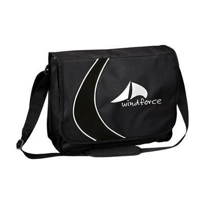 Picture of BOOMERANG DOCUMENT BAG in Black
