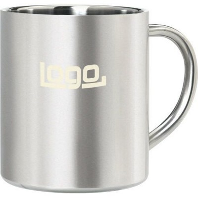Picture of ISO STAINLESS STEEL METAL MUG in Silver