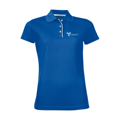 Picture of SOLS CRICKET POLO LADIES in Cobalt Blue