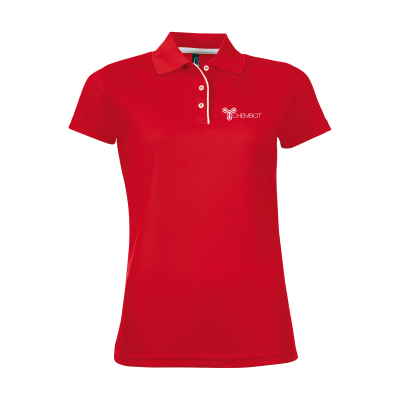 Picture of SOLS CRICKET POLO LADIES in Red