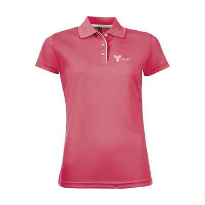 Picture of SOLS CRICKET POLO LADIES in Fluorescent Pink