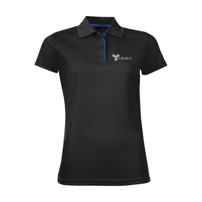 Picture of SOLS CRICKET POLO LADIES in Black