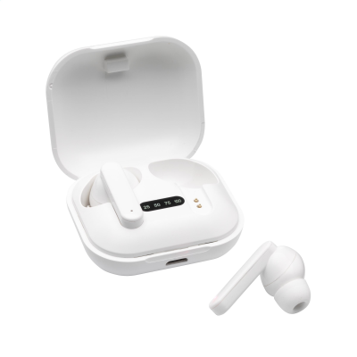 Picture of ARON TWS CORDLESS EARBUDS in Charger Case in White