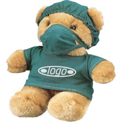 Picture of DOCTOR SOFT TOY TEDDY BEAR in Brown