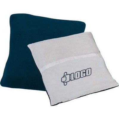 Picture of 2-IN-1 PILLOW FLEECE PICNIC BLANKET in Blue