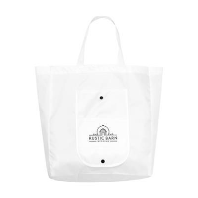 Picture of FOLDY FOLDING SHOPPER TOTE BAG in White