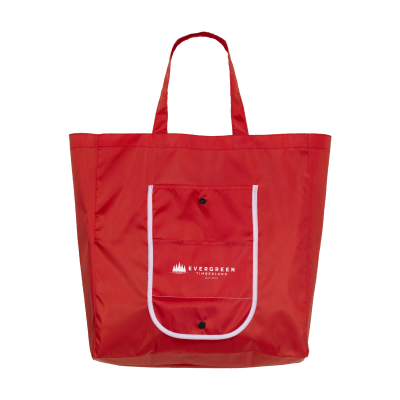Picture of FOLDY FOLDING SHOPPER TOTE BAG in Red