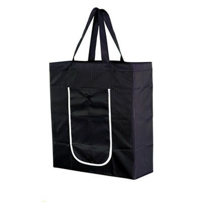 Picture of FOLDING SHOPPER TOTE BAG in Black