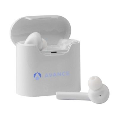 Picture of FLOW TWS CORDLESS EARBUDS in Charger Case in White