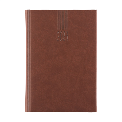 Picture of EURODIRECT DIARY 4 LANGUAGES in Brown