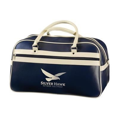 Picture of RETRO SPORTS BAG in Blue & Beige