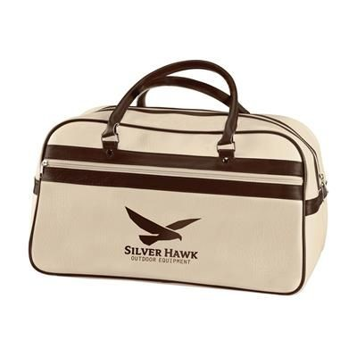 Picture of RETRO SPORTS BAG in Beige & Brown