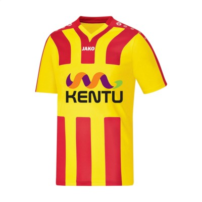 Picture of JAKO® SHIRT SANTOS KM MENS SPORTSHIRT in Yellow & Red
