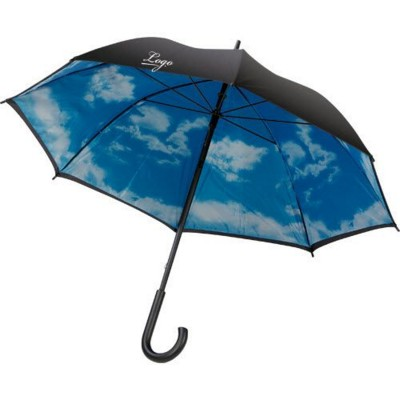 Picture of IMAGE CLOUDY DAY UMBRELLA in Black