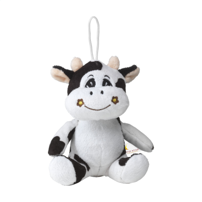 Picture of ANIMAL FRIEND COW CUDDLE in Black & White