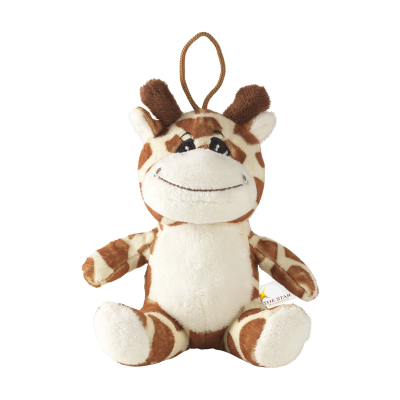 Picture of ANIMAL FRIEND GIRAFFE CUDDLE in Brown