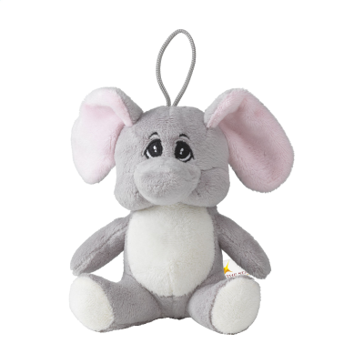 Picture of ANIMAL FRIEND ELEPHANT CUDDLE in Grey