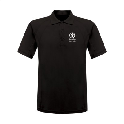 Picture of REGATTA STANDOUT COOLWEAVE WICKING POLOSHIRT in Black