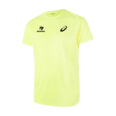 Picture of ASICS TOP-TEE MEN SPORTS SHIRT in Neon Fluorescent Yellow