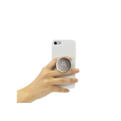 Picture of POPSOCKETS® ALUMINIUM METAL PHONE HOLDER in Silver