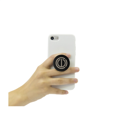 Picture of POPSOCKETS® ALUMINIUM METAL PHONE HOLDER in Black