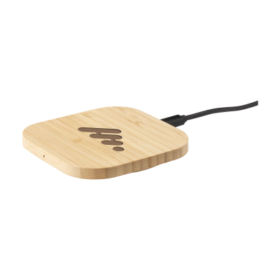 Picture of BAMBOO 5W CORDLESS CHARGER CORDLESS CHARGER in Wood