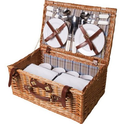 Picture of QUALITY TIME WILLOW PICNIC BASKET in Brown