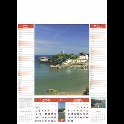 Picture of WALES 6 LEAF WALL CALENDAR