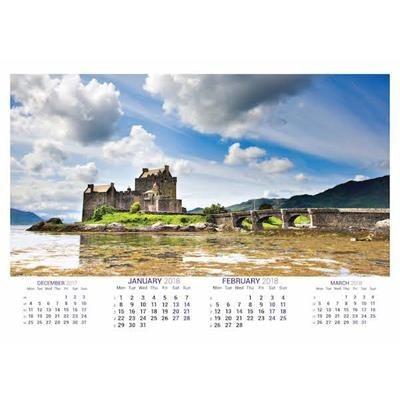 Picture of SCOTTISH SPLENDOUR OPTIMA DUO 7 LEAF CALENDAR
