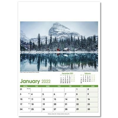 Picture of WORLD SCENES OPTIMA 12 LEAF CALENDAR