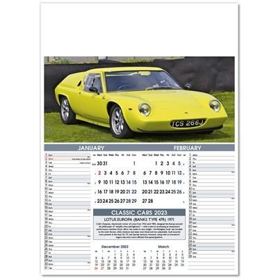 Picture of CLASSIC CARS PICTORIAL MEMO WALL CALENDAR