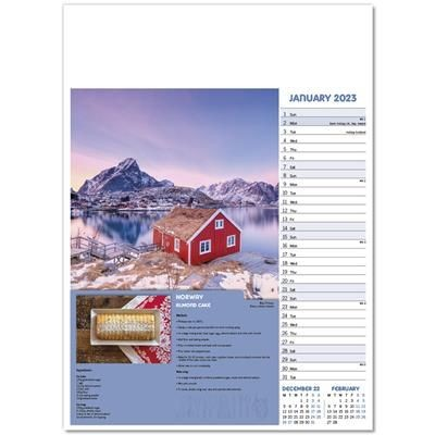 Picture of TASTE FOR TRAVEL WALL CALENDAR