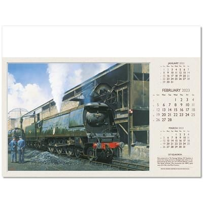 Picture of FOOTPLATE WALL CALENDAR