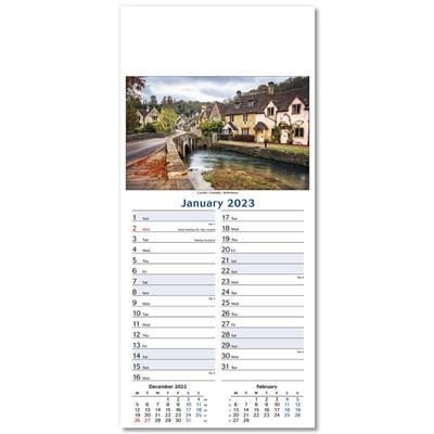 Picture of GALLERY OF BRITAIN SLIM LINE WALL CALENDAR