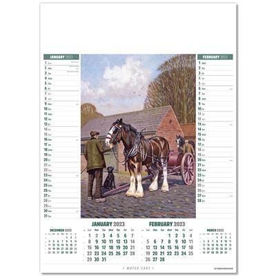 Picture of HORSE POWER MEMO WALL CALENDAR
